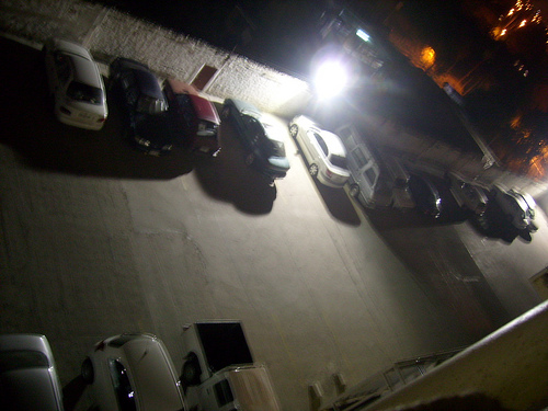 [ parking lot at night ]